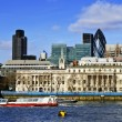 London skyline from Thames river — Stock Photo #4494728