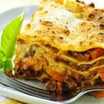 Plate of lasagna — Stock Photo