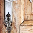 Door handle with keys — Stock Photo #4494951