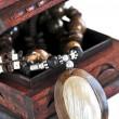 drewniana Szkatułka — Zdjęcie stockowe