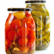 Jars of pickles - Stock Photo