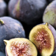 Plate of sliced figs — Stock Photo #4495416