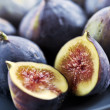 Stock Photo: Plate of sliced figs