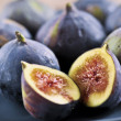 Plate of sliced figs — Stock Photo #4495421