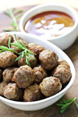 Meatballs and sauce — Stock Photo