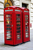 Telephone boxes in London — Stock Photo