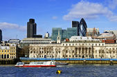 London skyline from Thames river — Stock Photo