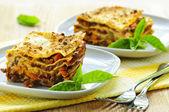 Plates of lasagna — Stock Photo