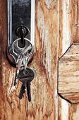 Keys in lock — Stock Photo