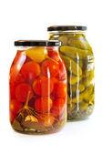 Jars of pickles — Stock Photo