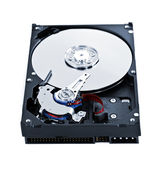 Hard drive insides — Stock Photo