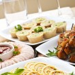 Assorted appetizers — Stock Photo