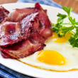 Stock Photo: Bacon and eggs