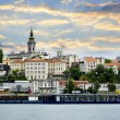Belgrade cityscape on Danube — Stock Photo