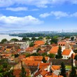 Zemun rooftops in Belgrade - Stock Photo