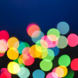 Blurred Christmas lights — Photo