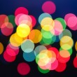 Blurred Christmas lights - Stock Photo