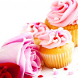 Royalty-Free Stock Photo: Cupcakes and flowers