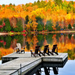 Wooden dock on autumn lake — Stock fotografie #4518773