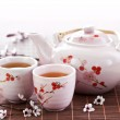 Green tea set — Stock Photo