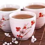 Green tea cups — Stock Photo