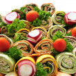 Sandwich tray — Stockfoto
