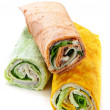 Wrap sandwiches — Stock Photo