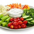 Vegetables and dip — Stock Photo #4519913