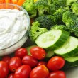 Vegetables and dip - Stock Photo