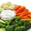 Vegetables and dip — Stock Photo #4519923