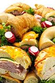 Sandwich tray — Stock Photo