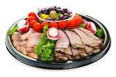 Cold cut platter — Stock Photo