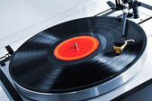 Record on turntable — Stock Photo