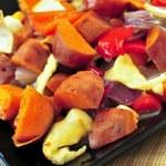 Roasted sweet potatoes — Stock Photo