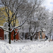 Stock Photo: Winter street