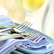 Plates and cutlery — Stock Photo #4565249