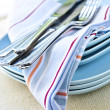 Plates and cutlery - Stock Photo