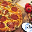 Pepperoni pizza — Stock Photo #4565313