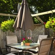 Stock Photo: Patio furniture on a deck