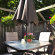 Patio furniture on a deck - Foto de Stock