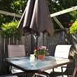 Patio furniture on a deck — Stock Photo
