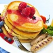 Pancakes breakfast - Stock Photo