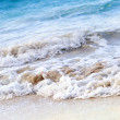 图库照片: Waves breaking on tropical shore