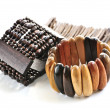 Wooden bracelets - Stock Photo
