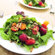 Green salad with berries and tomatoes — Stock Photo #4565491