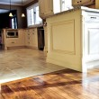 Stock Photo: Hardwood and tile floor