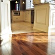 Hardwood  and tile floor - Stock Photo