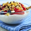 Stock Photo: Yogurt with berries and granola