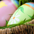 Easter eggs with green grass — Stock Photo #4565714
