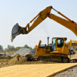 Stock Photo: Construction site machines